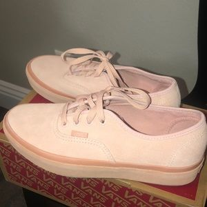Baby pink suede